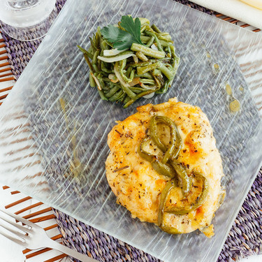 Pollo gratinado al Provolone: receta
