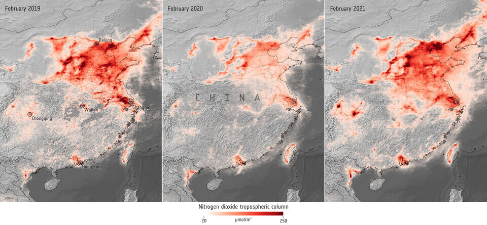 Nitrogen Dioxide Concentrations Over China Article