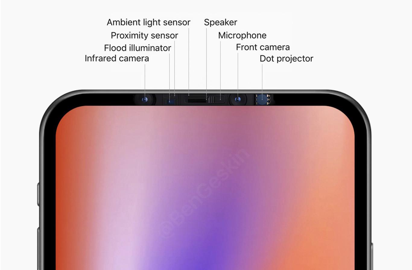 El iPhone podría ocultar el notch según esta patente
