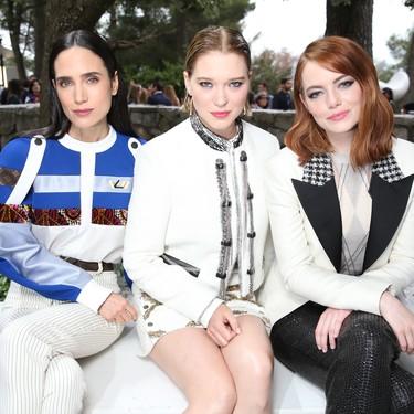 Emma Stone, Jennifer Connelly, Sienna Miller entre las invitadas al desfile Louis Vuitton Crucero 2019