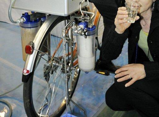 Bicicletas que convierten el agua en potable