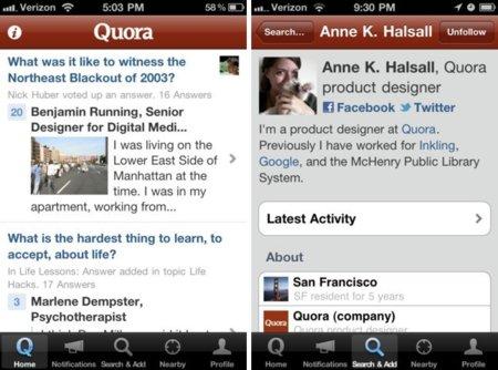 Quora, la red de preguntas y respuestas ya tiene aplicación para iPhone