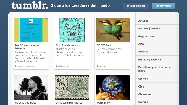 Tumblr, el viejo estilo de los blogs de enlaces