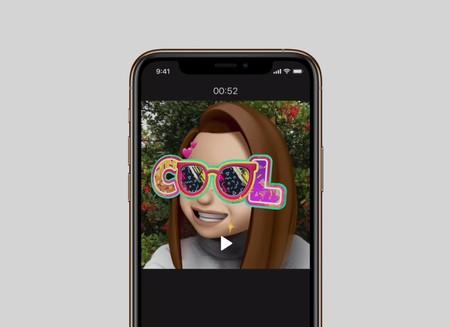 La app Clips de Apple se actualiza para permitir hacer vídeos con Animoji, Memoji y nuevos stickers