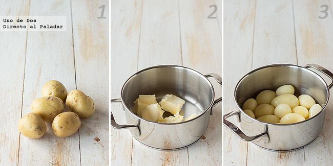 Receta de patatas a la mantequilla paso a paso