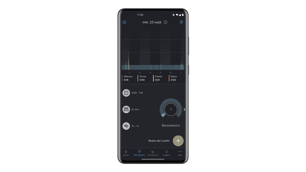 Con esta apps puedas conocer si roncas al dormir, cómo de fuerte lo haces y grabar su sonido