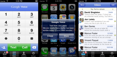 Google Voice aterriza en el iPhone
