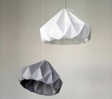 lámpara de papel origami Studio Snowpuppe