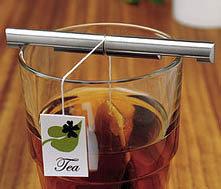 Sujetador de bolsas de té