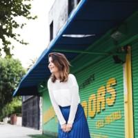 Pleated Midi Skirt Vintage Denim Jacket Electric Blue Leather Outfit Street Style Collage Vintage 26
