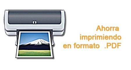 Imprime en formato .PDF gracias al uso de las impresoras virtuales