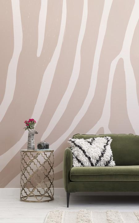 Papel Pintado Estampado Cebra Rosa Lifestyle Web