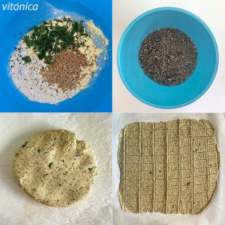 Crackers Veganos Pasos