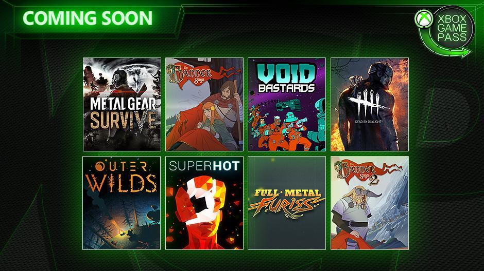 Metal Gear Survive, Dead by Daylight, SUPERHOT y otros cinco juegos más se unirán próximamente a Xbox Game Pass