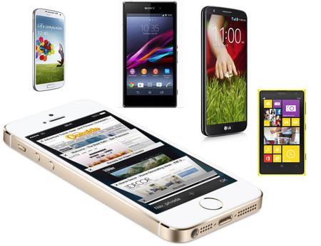 El iPhone 5S contra sus competidores