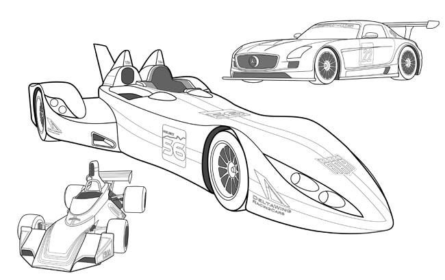 disfruta con los m u00e1s peque u00f1os coloreando coches de carreras