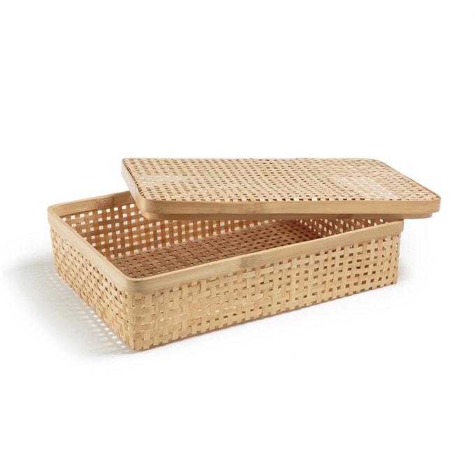 Caja artesanal de bambú