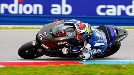 Jorge Lorenzo a bordo de la Yamaha 2012