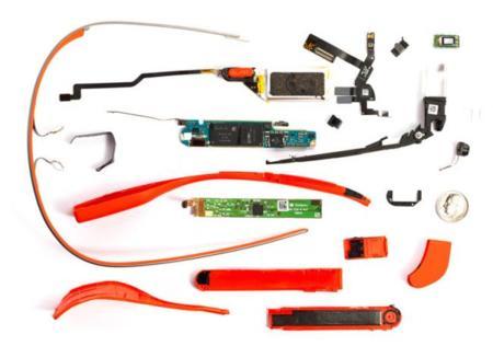 Despiece de Google Glass, sencillo hardware en diminuto diseño