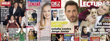 Antonio David pone verde a Jorge Javier, la promesa de la princesa Leonor a su padre y el ático de Antonio Banderas: estas son las portadas de la semana del 30 de diciembre