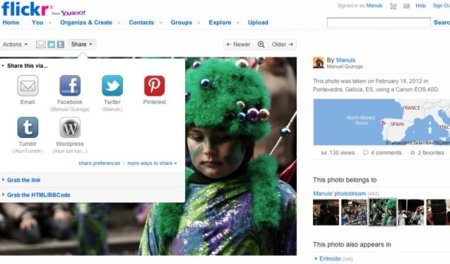Flickr añade el  botón de compartir en Pinterest introduciendo créditos al autor