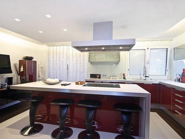 cocina abierta con isla