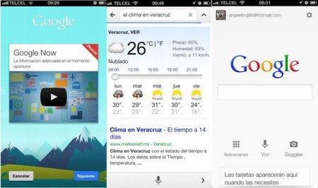 Google Now disponible en iOS
