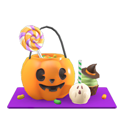 Animal Crossing New Horizons Guide Pumpkins Item Diy Icon Spooky Candy Set