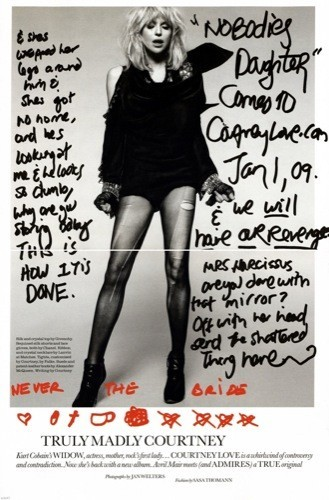 Courtney Love hace promoción en la Elle britanica