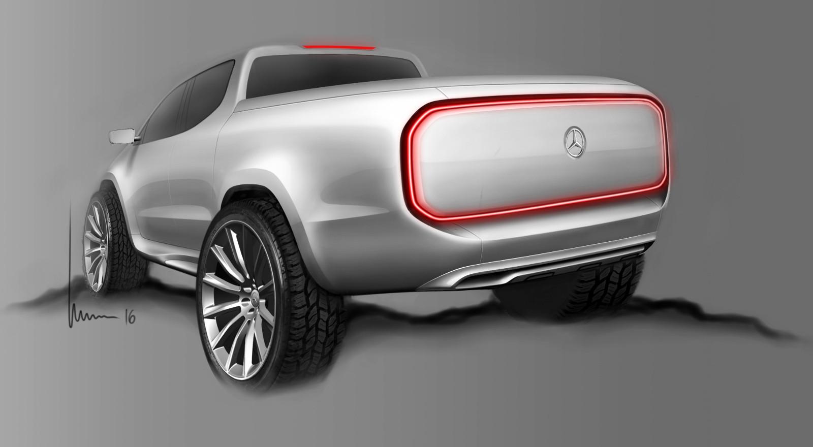 Foto de Mercedes-Benz Concept Clase X - bocetos (5/7)