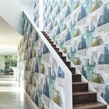 Nos gusta la geometría. Y nos gusta la nueva colección de telas y papeles pintados de Harlequin