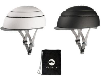 Closca Fuga: un casco para ciclistas que reduce su tamaño para que puedas guardarlo cómodamente