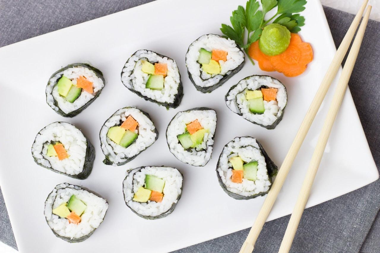 sushi sin pescado crudo embarazo