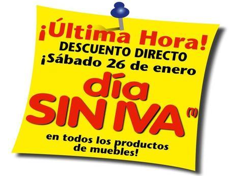 """Conforama, """"Día sin IVA el sábado 26 de enero"""""""