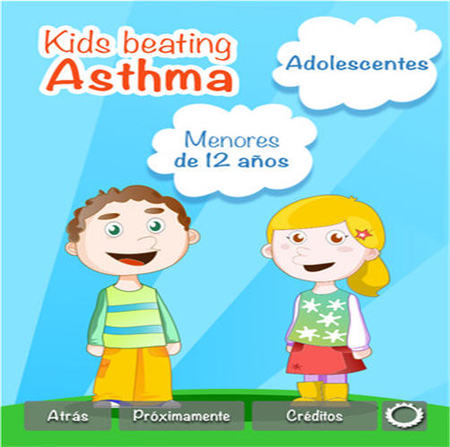 La primera aplicación sanitaria para niños con asma se llama 'Kids Beating Asthma'
