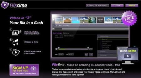 Flixtime, crea vídeos con tus fotos de forma fácil y rápida
