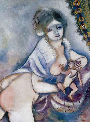 """""""La maternidad"""", de Chagall"""