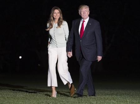 Donald y Melania Trump vuelven a Washington cogidos de la mano después del video que se convirtió en viral en pocas horas