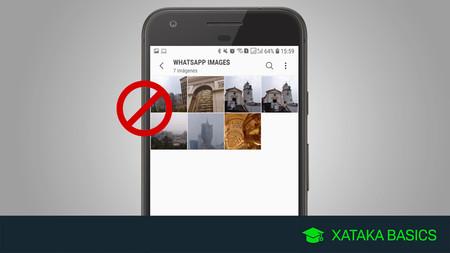 Cómo ocultar las fotos y vídeos de WhatsApp de la galería de Android
