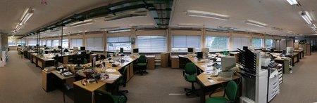El espacio del escritorio en la oficina