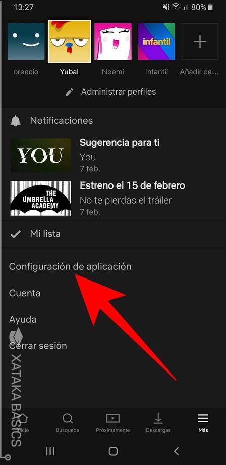 Configuracion De La Aplicacion
