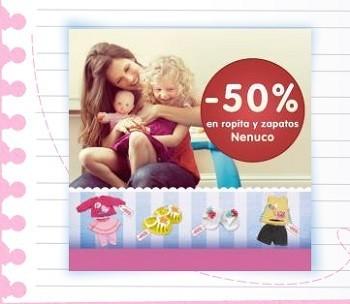 Recupera el 50 % de tu compra en ropa y zapatos para Nenuco