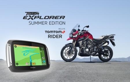 Triumph Tiger Explorer Summer Edition con TomTom RIDER 400 de serie