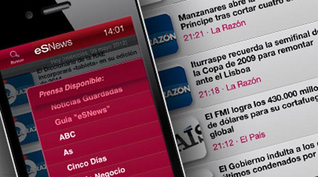 eSNews, mantente informado llevando toda la prensa española en tu bolsillo
