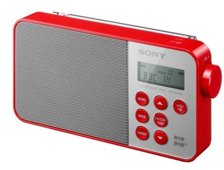 Sony XDR-S40DBP en rojo