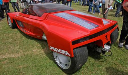 Peugeot Proxima 1986, vista trasera