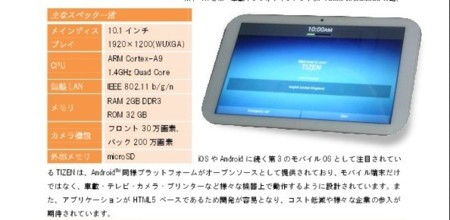 Tablet Tizen
