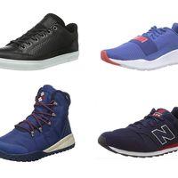 Ofertas en tallas sueltas de botas y zapatillas New Balance, Puma o Columbia en Amazon