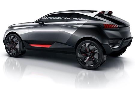 Concept Peugeot Quartz, un crossover con piedra de basalto que se abre camino hacia París