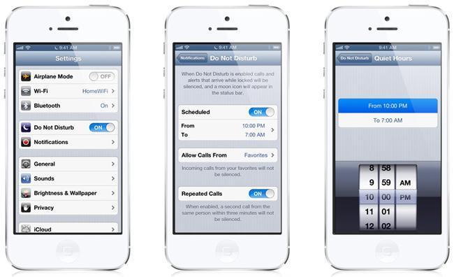 Modo No Molestar en iOS 6